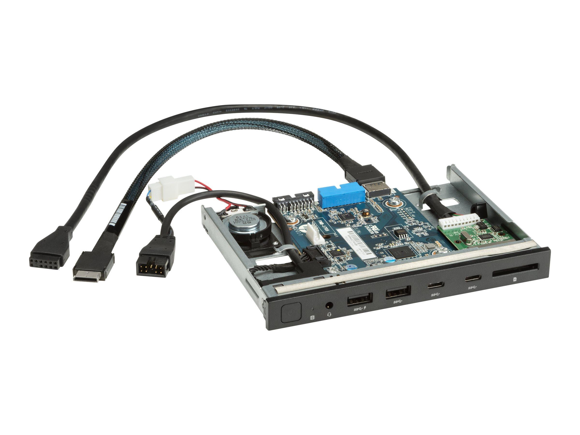 HP Premium Front I/O - System Eingangs-/Ausgangspaneel - USB 3.1 Gen 1 x 2, USB-C 3.1 Gen 2 x 2 - für Workstation Z4 G4, Z6 G4