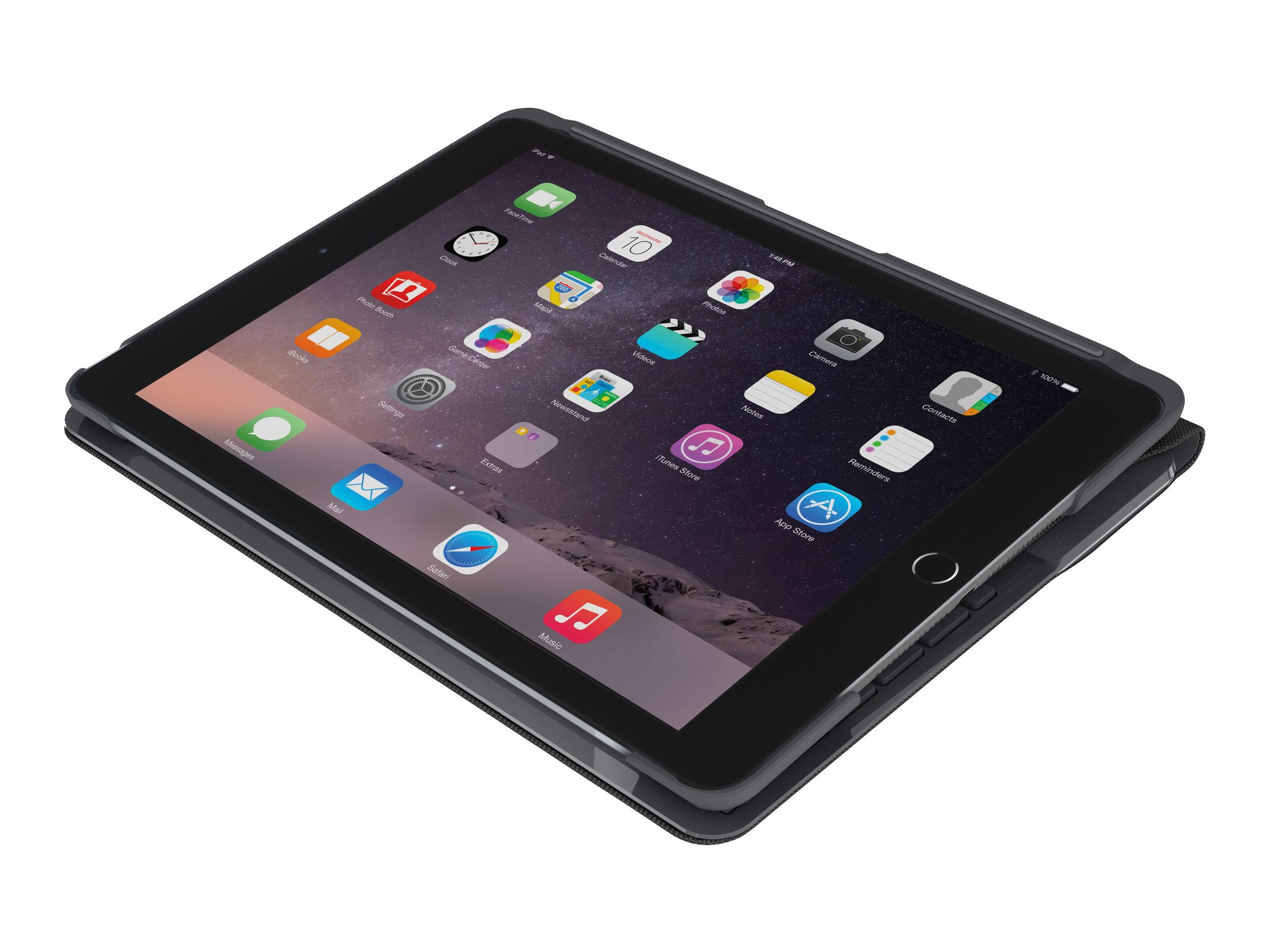 Logitech Slim Folio - Tastatur und Foliohülle - Bluetooth - UK Englisch - Schwarz - für Apple 9.7-inch iPad (5. Generation, 6. G