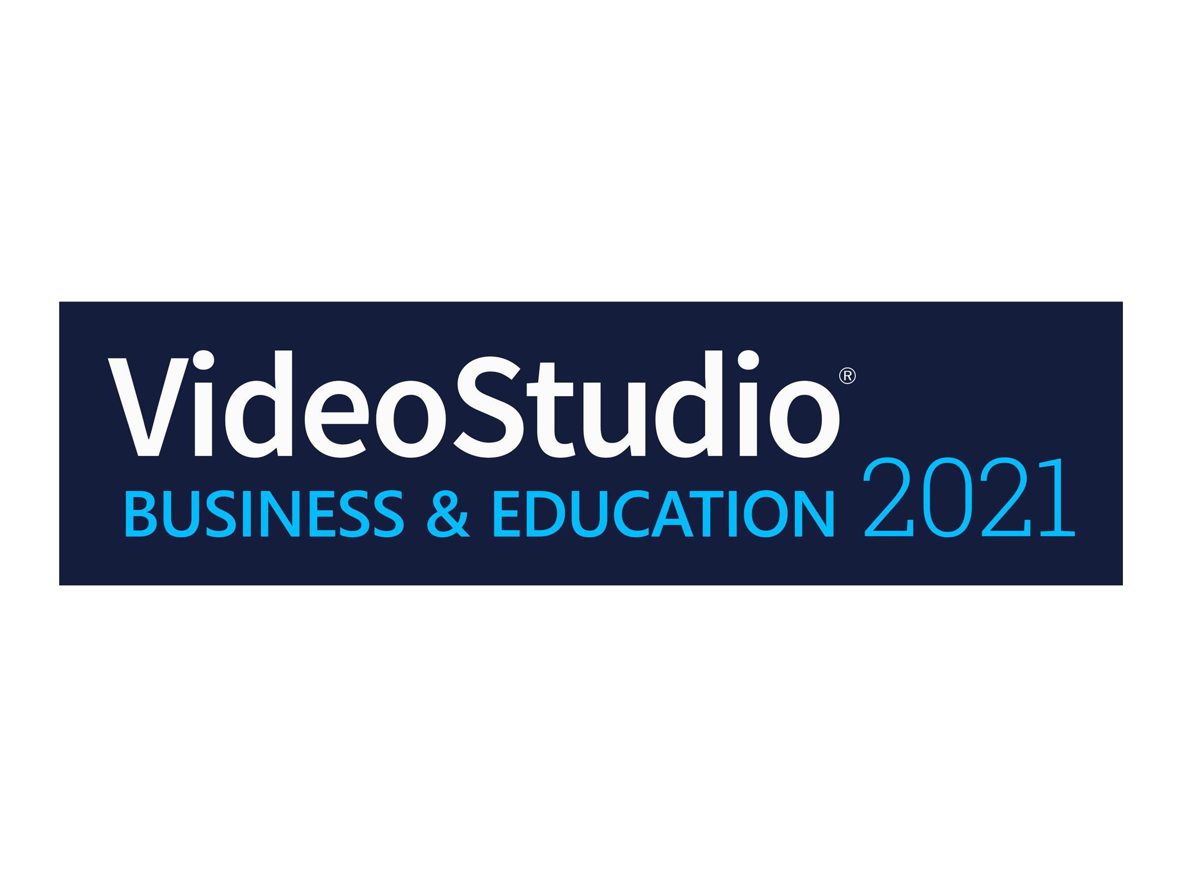 Corel VideoStudio Business & Education 2021 - Upgrade-Lizenz - 1 Benutzer - Volumen - 51-250 Lizenzen - Win