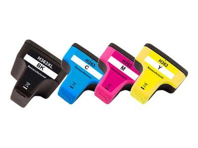 Peach Multi Pack - 4er-Pack - High Capacity - Schwarz, Gelb, Cyan, Magenta - wiederaufbereitet - Tintenpatrone (Alternative zu: