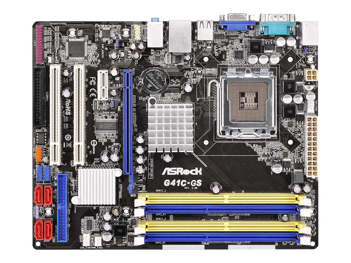 ASRock G41C-GS - 2.0 - Motherboard - micro ATX - LGA775-Sockel - G41