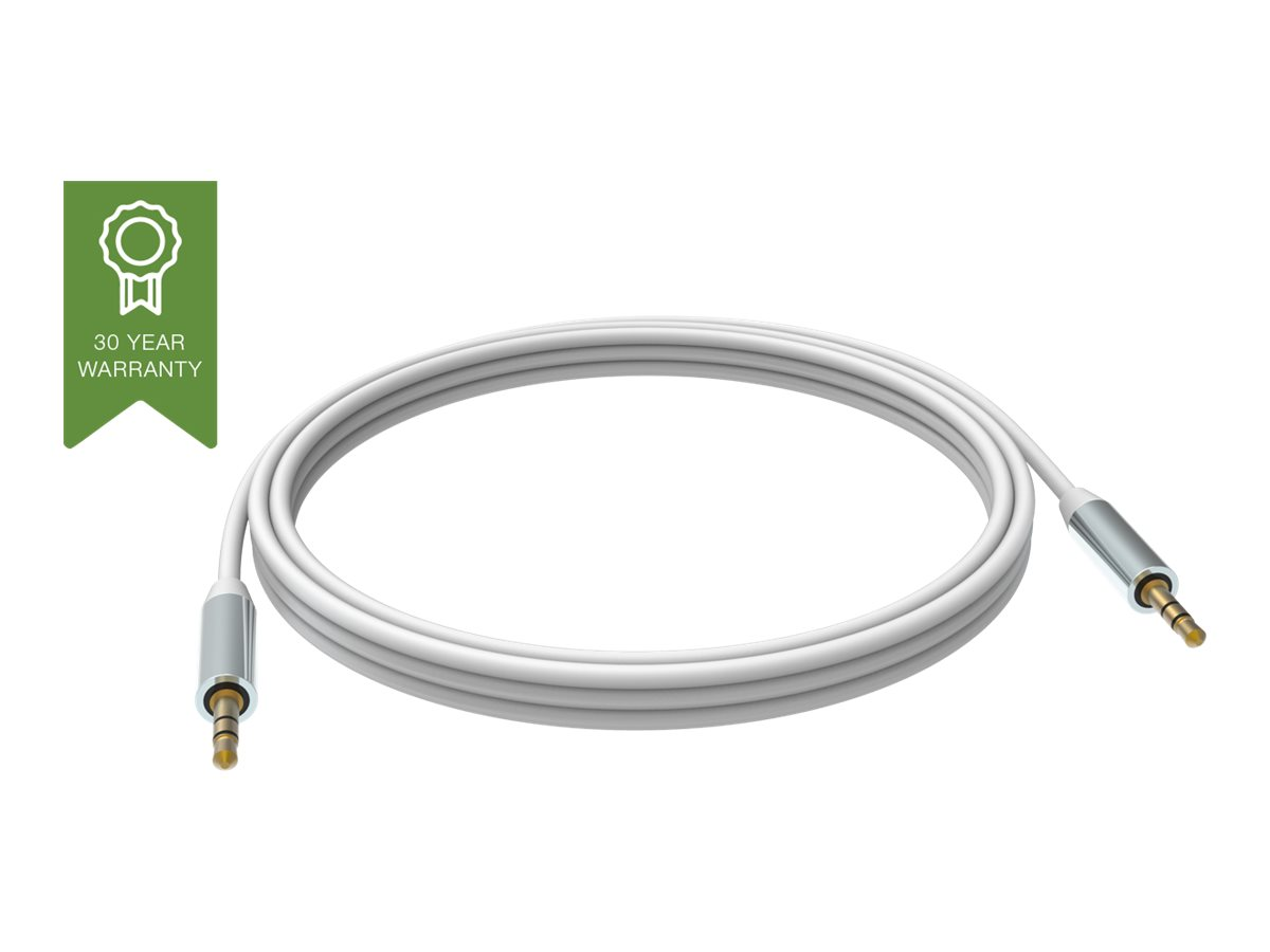 VISION Techconnect - Audiokabel - Stereo Mini-Klinkenstecker (M) bis Stereo Mini-Klinkenstecker (M) - 1 m - abgeschirmt - weiss