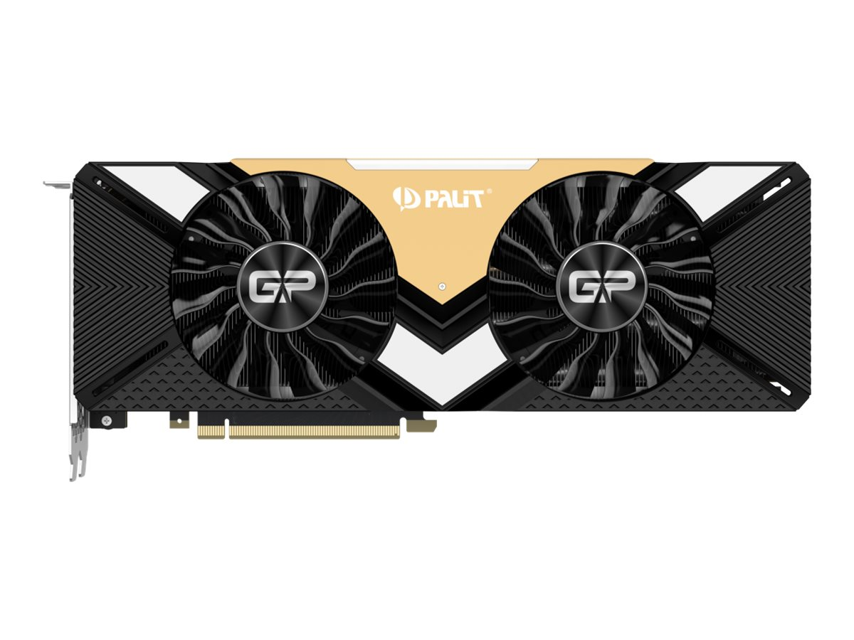 Palit GeForce RTX 2080 Ti Dual - Grafikkarten - GF RTX 2080 Ti - 11 GB GDDR6 - PCIe 3.0 x16 - HDMI, 3 x DisplayPort, USB-C