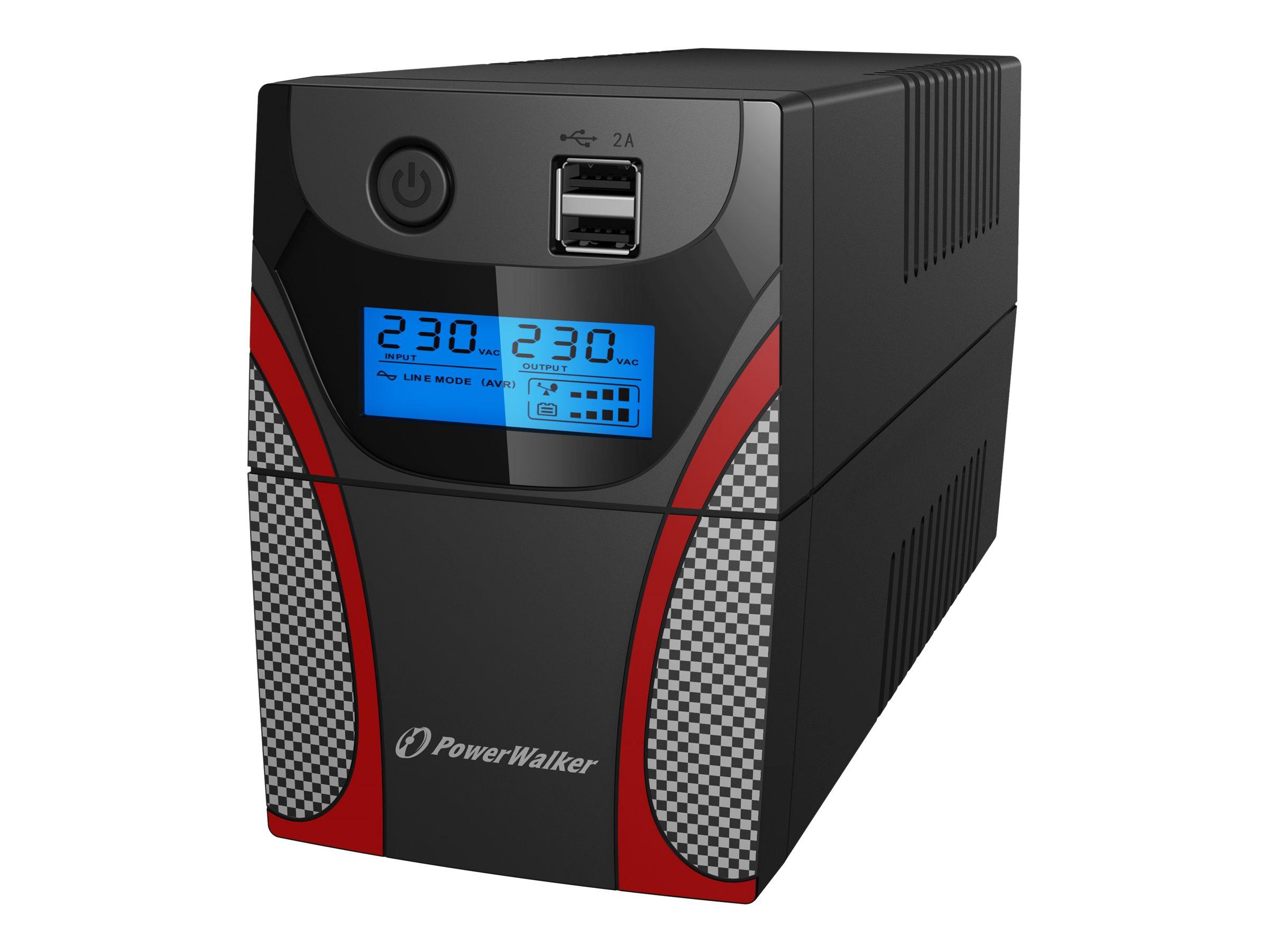 PowerWalker VI 850 GX - USV - AC 172-280 V - 480 Watt - 850 VA 9 Ah - USB