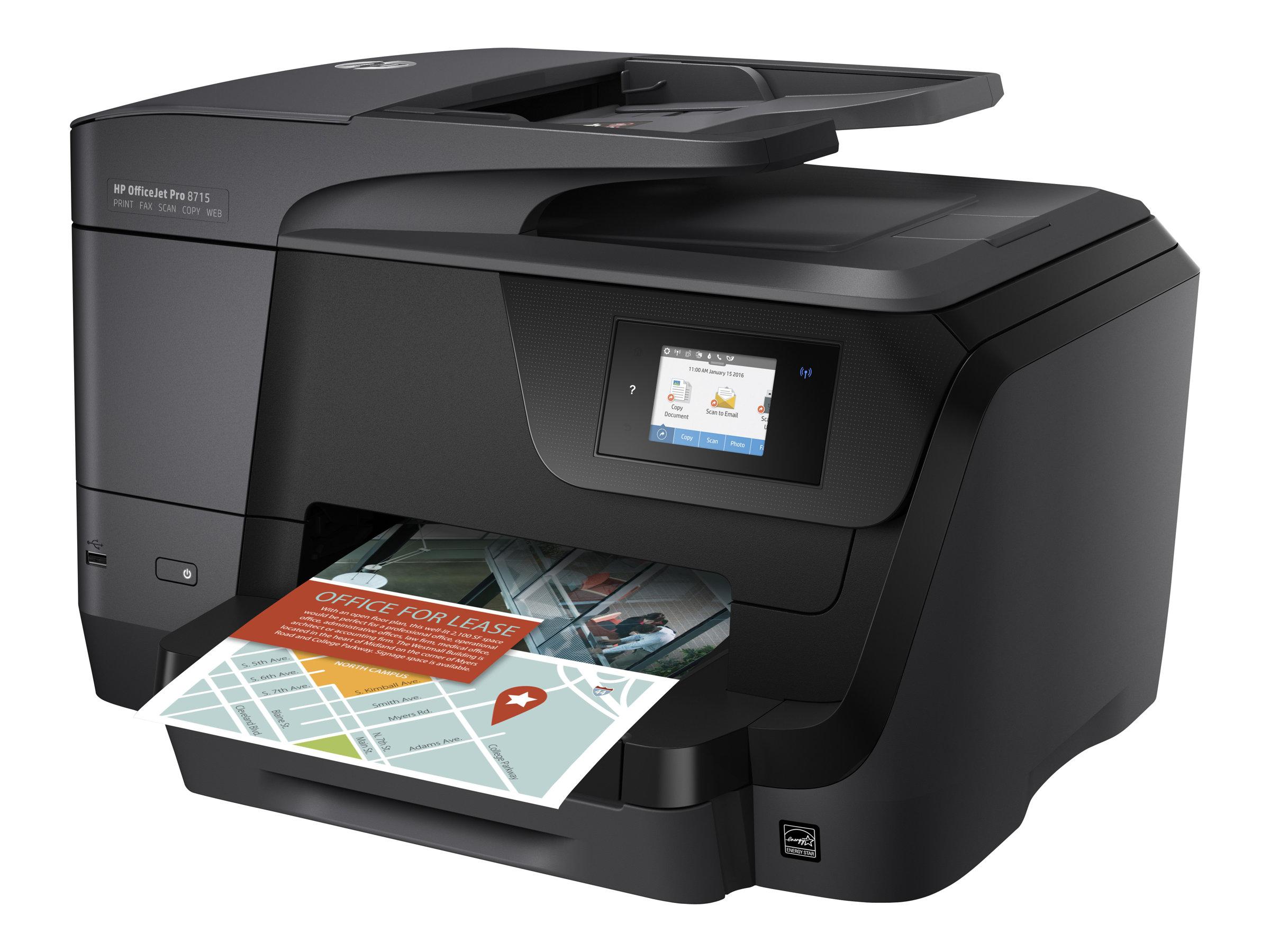 HP Officejet Pro 8715 All-in-One - Multifunktionsdrucker - Farbe - Tintenstrahl - A4 (210 x 297 mm), Legal (216 x 356 mm) (Origi