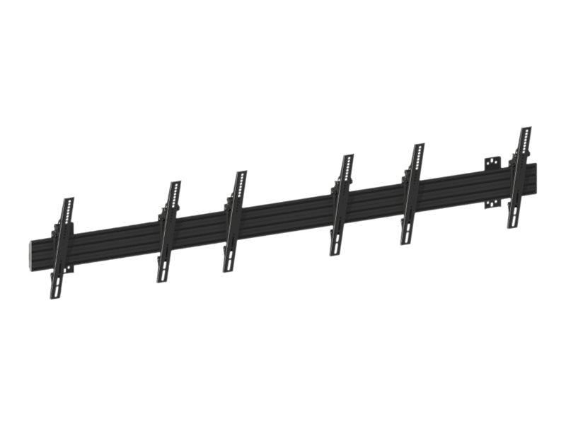 HAGOR Wallmount Pro MBW3U - Wandhalterung für 3 LCD- / Plasmabildschirme - Schwarz - Bildschirmgrösse: 101.6-165.1 cm (40