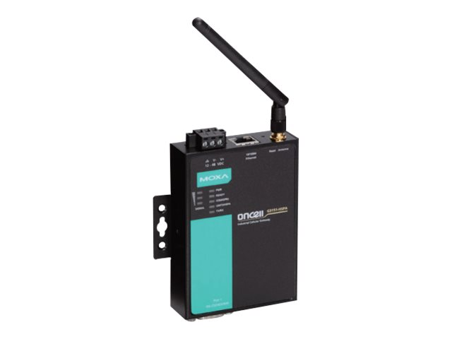 Moxa OnCell G3151-HSPA - Gateway - 100Mb LAN, RS-232, RS-422, RS-485 - GSM 850/900/1800/1900 / UMTS 800/850/900/1900/2100 - Glei