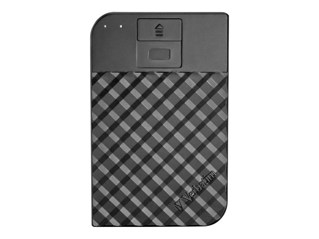 Verbatim Fingerprint Secure - Festplatte - verschlüsselt - 1 TB - extern (tragbar) - USB 3.1 Gen 1 (USB-C Steckverbinder)