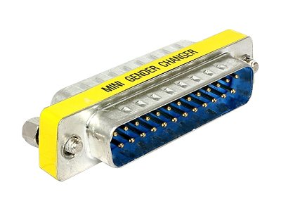 DeLOCK Adapter Sub-D - Serieller / paralleler Gender Changer - DB-25 (M) bis DB-25 (M)