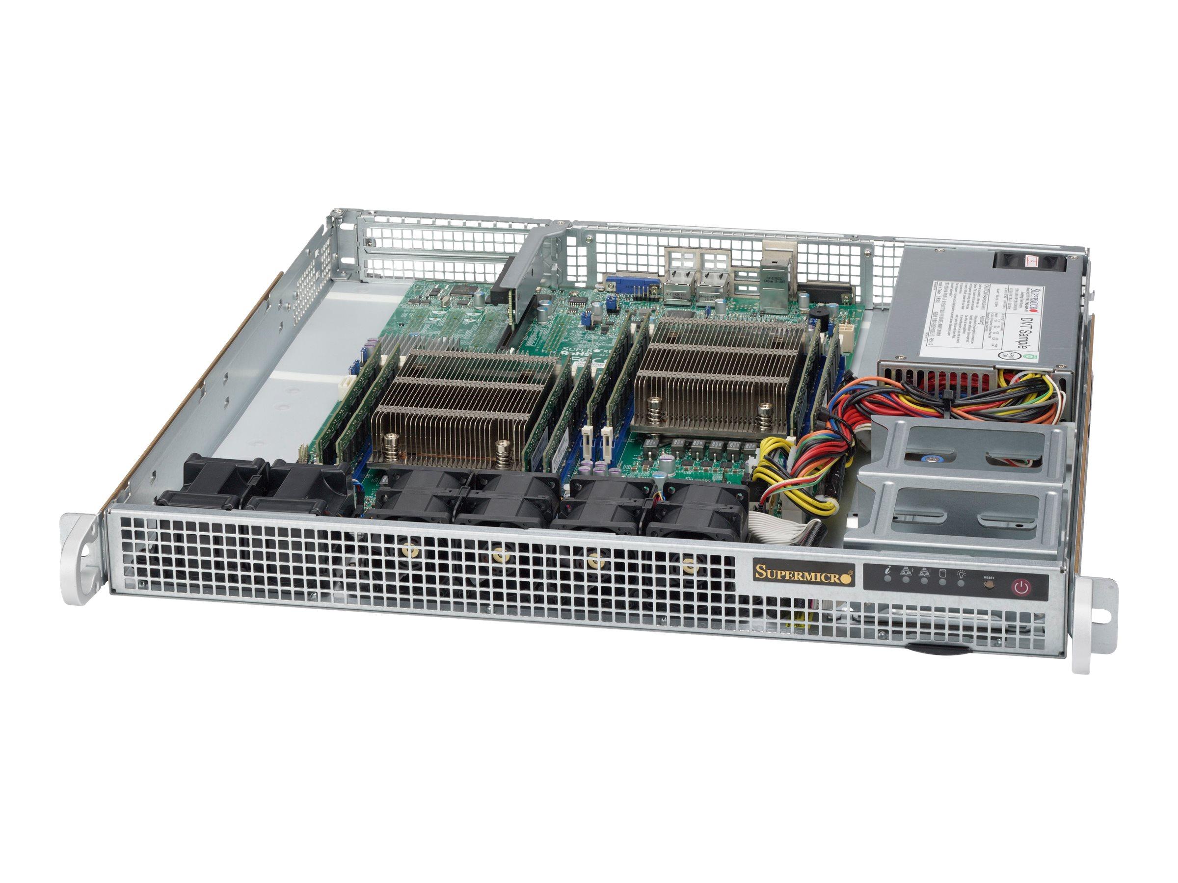 Supermicro SC514 505 - Rack - einbaufähig - 1U - Erweitertes ATX - SATA/SAS