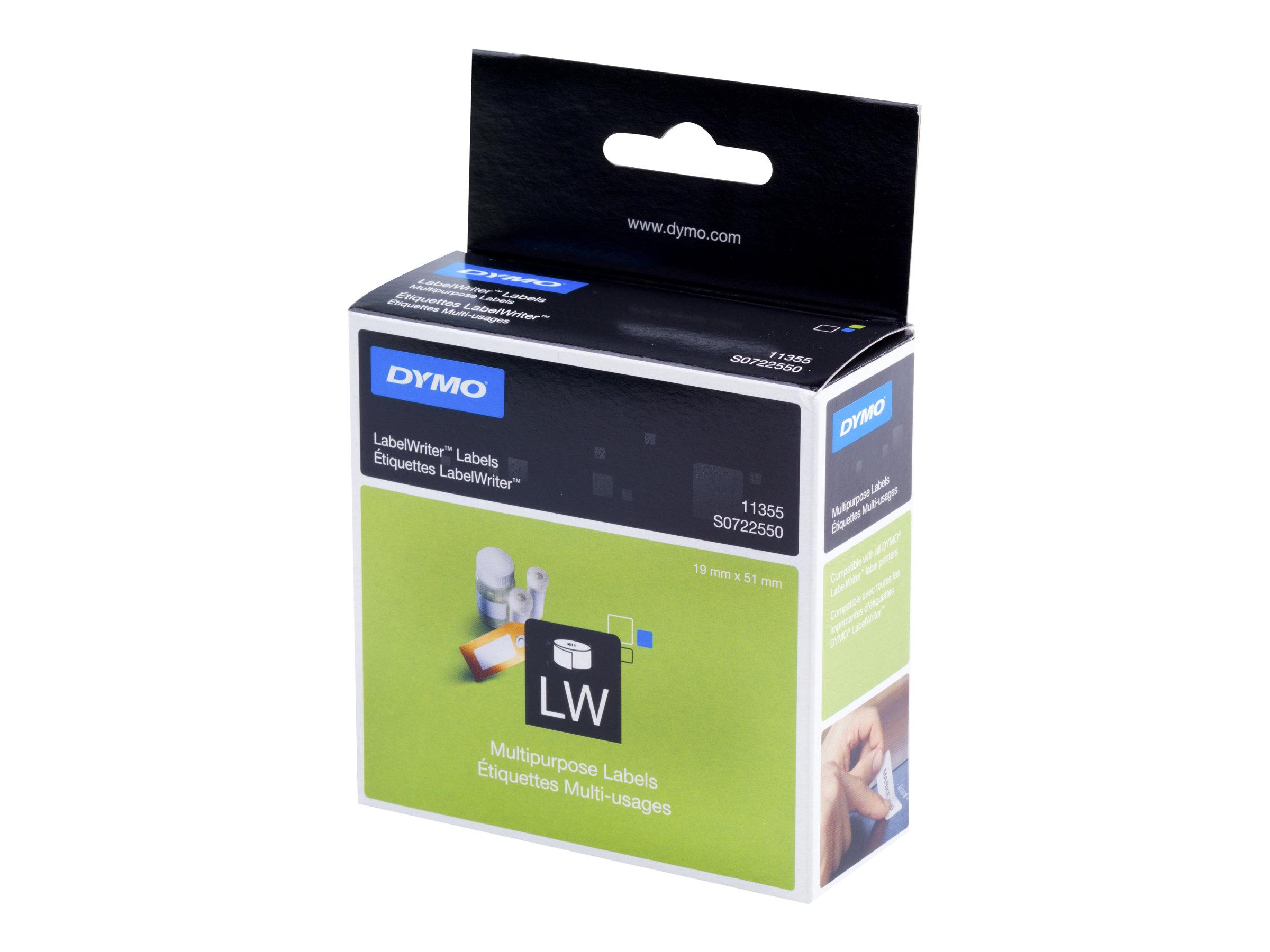 DYMO LabelWriter MultiPurpose - Weiss - 19 x 51 mm 500 Etikett(en) (1 Rolle(n) x 500) Mehrzwecketiketten - für DYMO LabelWriter