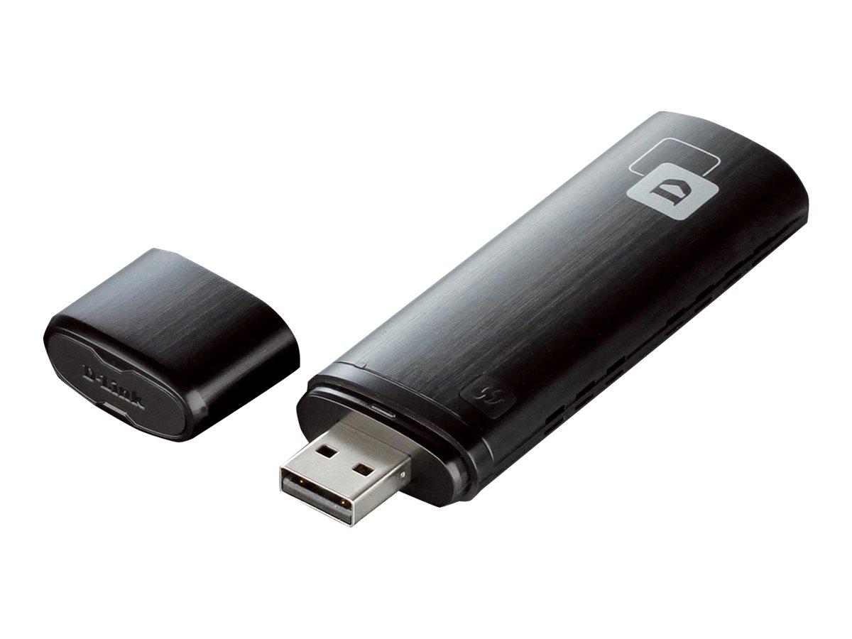 D-Link Wireless AC1200 DWA-182 - Netzwerkadapter - USB 2.0 - 802.11a, 802.11b/g/n, 802.11ac (draft 2.0)