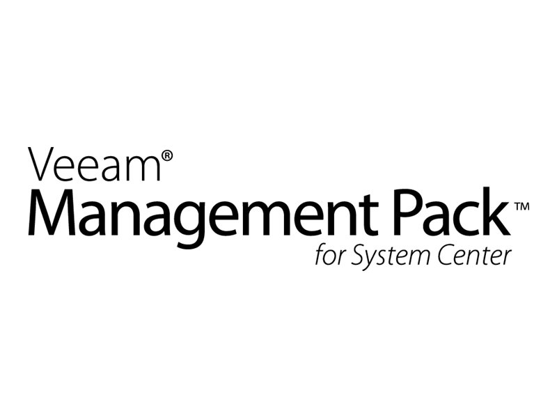 Veeam Management Pack Enterprise Plus - Upfront Billing-Lizenz (Erneuerung) (1 Jahr) + Production Support - 1 CPU (Buchse) - Öff
