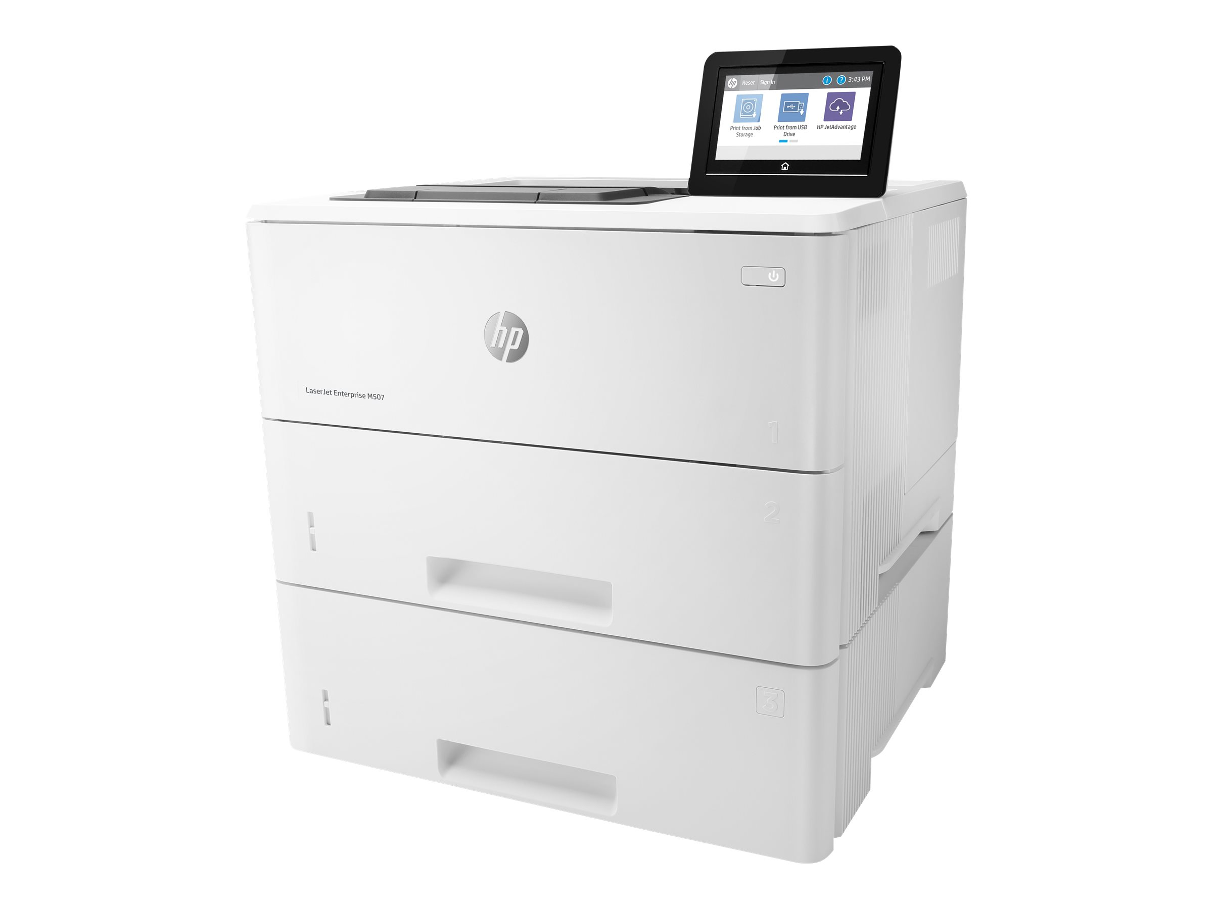 HP LaserJet Enterprise M507x - Drucker - monochrom - Duplex - Laser - A4/Legal