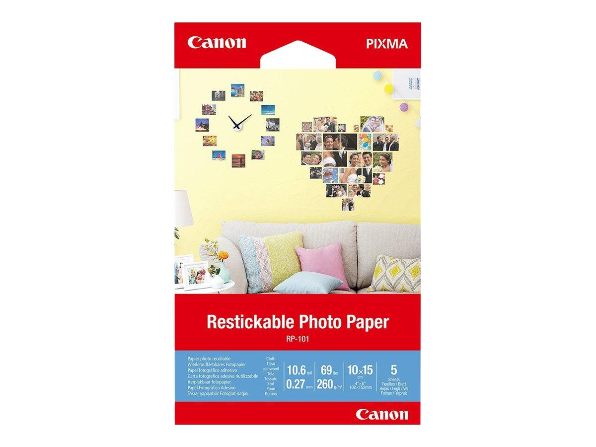 Canon Restickable Photo Paper RP-101 - Matt - entfernbarer Klebstoff - 10,6 mil - 100 x 150 mm - 260 g/m²