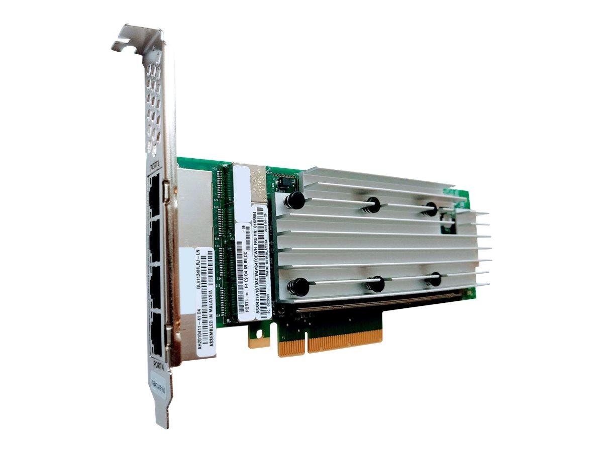 Lenovo ThinkSystem QL41134 - Netzwerkadapter - PCIe 3.0 x8 - Gigabit Ethernet / 10Gb Ethernet x 4 - für ThinkSystem SD530; SR250