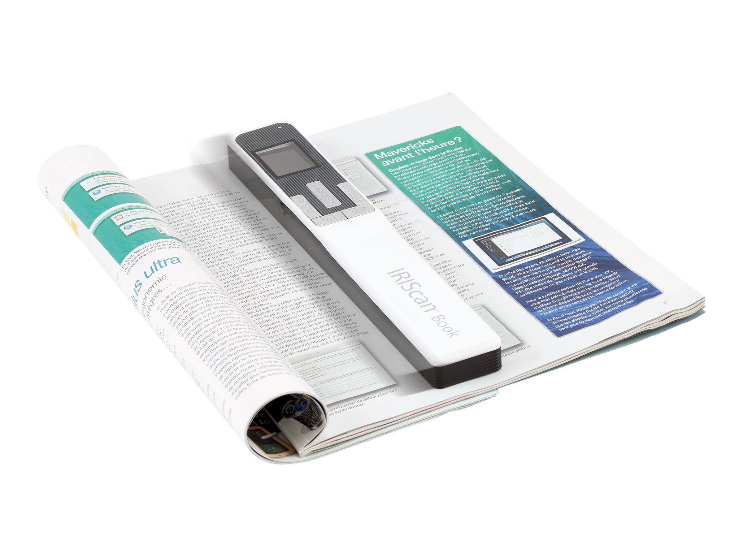 IRIS IRIScan Book 5 - Scanner als Handgerät - Contact Image Sensor (CIS) - A4 - 1200 dpi - USB