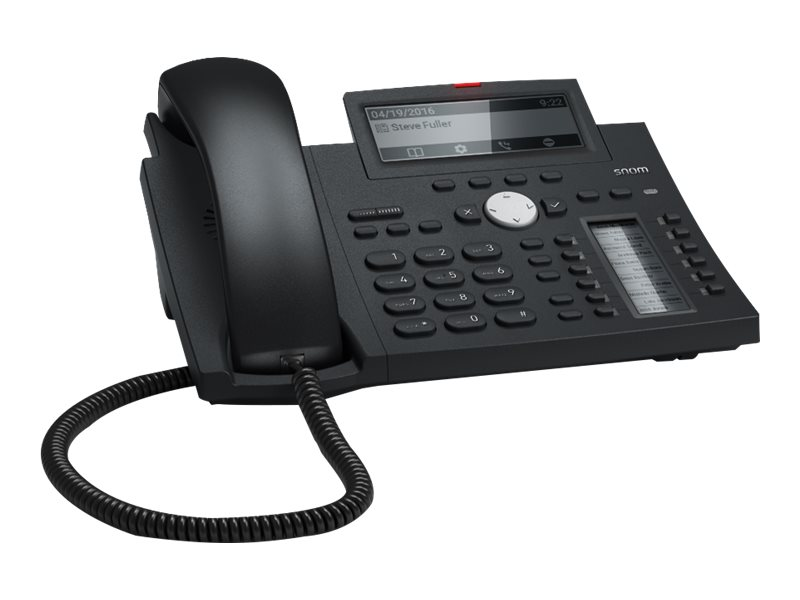 snom D345 - VoIP-Telefon - dreiweg Anruffunktion - SIP - 12 Leitungen - schwarz blau