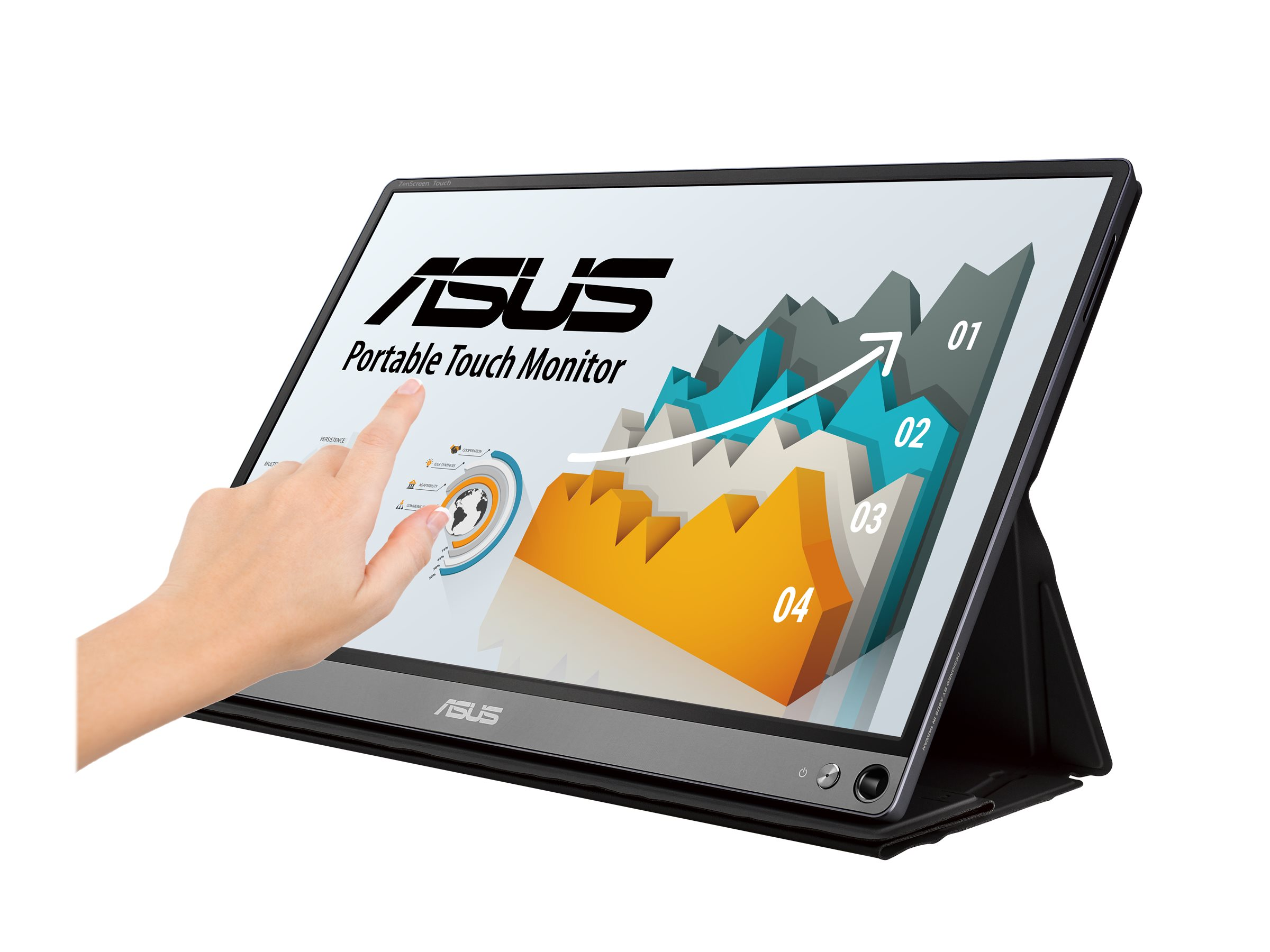 ASUS ZenScreen Touch MB16AMT - LCD-Monitor - 39.6 cm (15.6