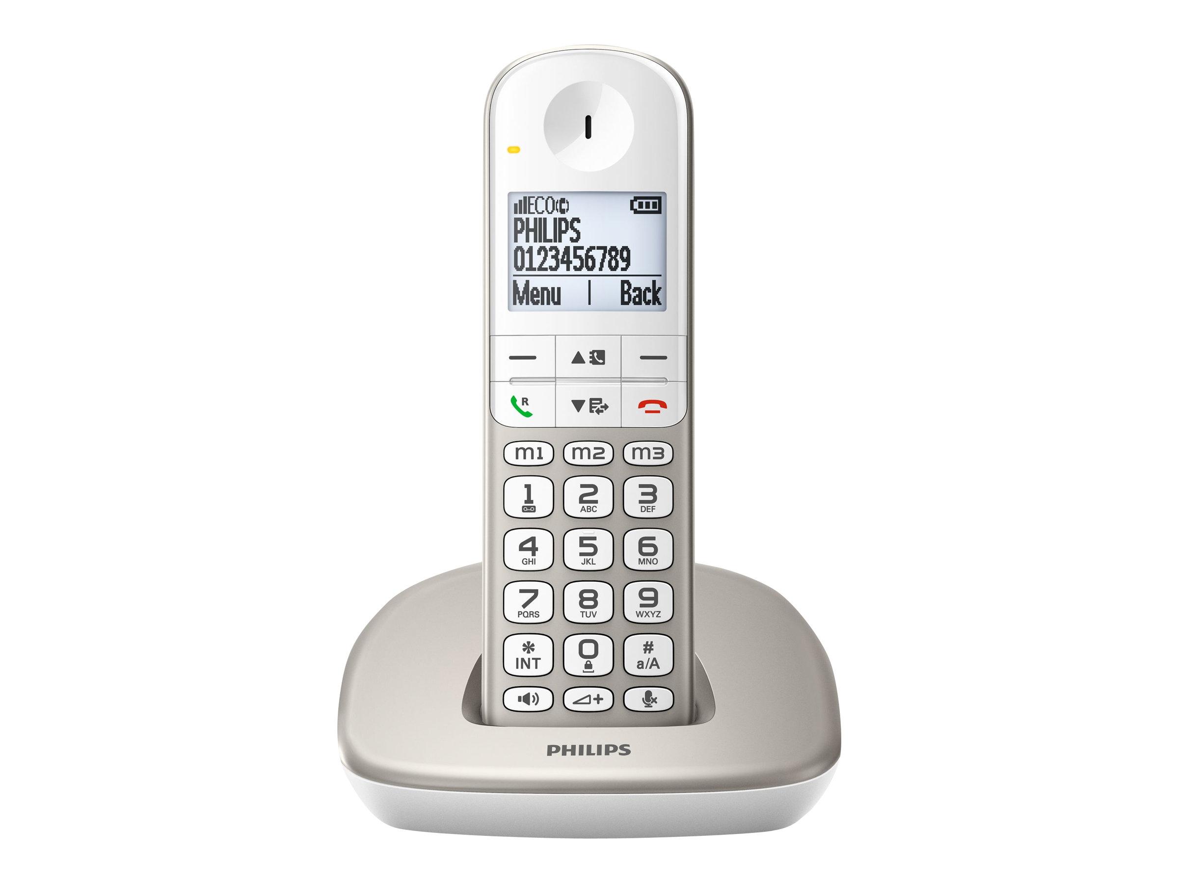 Philips XL4901S - Schnurlostelefon mit Rufnummernanzeige/Anklopffunktion - DECT\GAP - dreiweg Anruffunktion