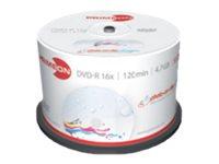 Primeon photo-on-disc ultragloss - 50 x DVD-R - 4.7 GB (120 Min.) 16x (DVD) - in Fotoqualität bedruckbare Oberfläche - Spindel
