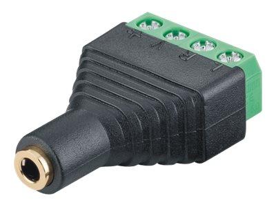 M-CAB - Audio-Stecker - Stereo Mini-Klinkenstecker (W) bis 4-poliger Anschlussblock schraubbar (Packung mit 10)