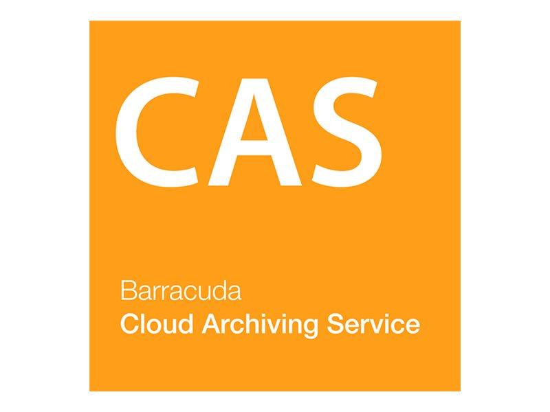 Barracuda Cloud Archiving Service - Abonnement-Lizenz (5 Jahre) - 1 Benutzer - gehostet - Volumen - 250-999 Lizenzen