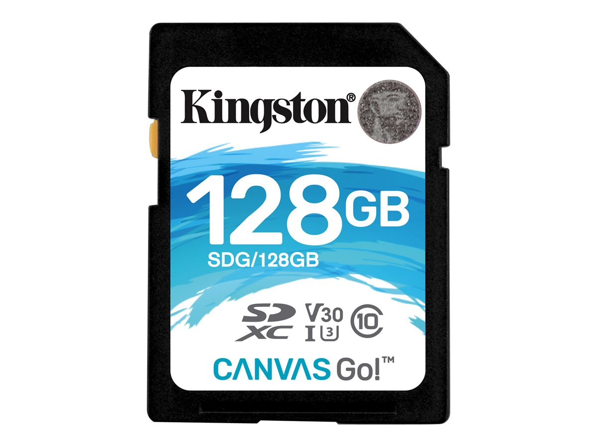 Kingston Canvas Go! - Flash-Speicherkarte - 128 GB - Video Class V30 / UHS-I U3 / Class10 - SDXC UHS-I