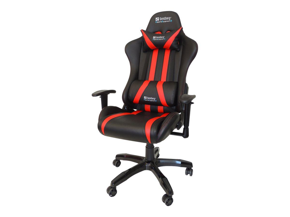 Sandberg Commander - Gaming-Sessel - Armlehnen - T-förmig - Drehgelenk - Polyurethan-Kunstleder