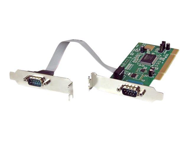 StarTech.com 2 Port Serielle PCI RS232 DB9 Low Profile Schnittstellenkarte mit 16C550 UART- PCI Serial Card 2 x RS-232 / DB-9 (S