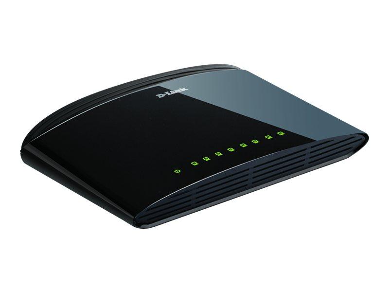 D-Link DES 1008D - Switch - unmanaged - 8 x 10/100 - Desktop