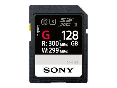 Sony SF-G Series SF-G128 - Flash-Speicherkarte - 128 GB - UHS-II U3 / Class10 - SDXC UHS-II
