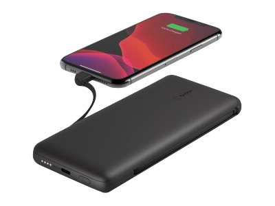 Belkin BOOST CHARGE PLUS - Powerbank - 10000 mAh - 23 Watt - Fast Charge, PD - 2 Ausgabeanschlussstellen (Lightning, USB-C)