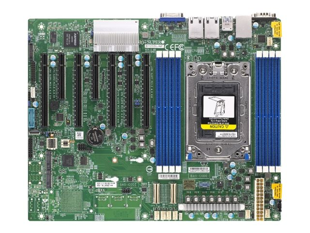 SUPERMICRO H12SSL-NT - Motherboard - ATX - Socket SP3 - USB 3.0 - 2 x 10 Gigabit LAN