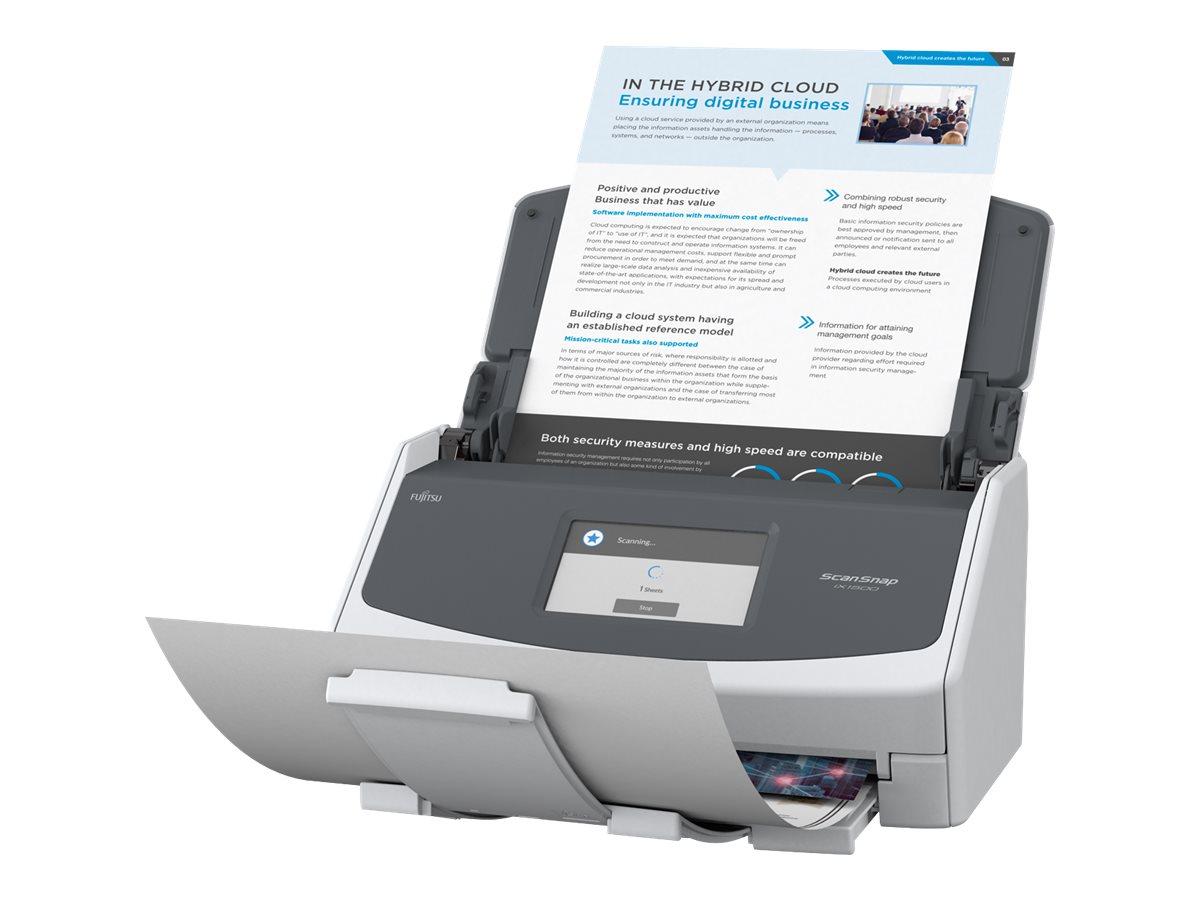 Fujitsu ScanSnap iX1500 - Dokumentenscanner - Duplex - 216 x 863 mm - 600 dpi x 600 dpi - bis zu 30 Seiten/Min. (einfarbig) / bi