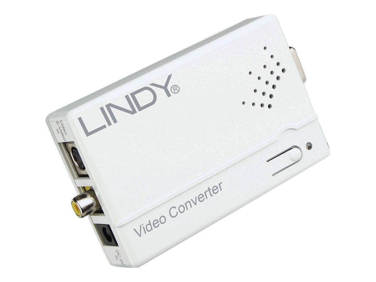 Lindy - Videokonverter - Composite Video, S-video - VGA - weiss