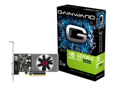 Gainward GeForce GT 1030 - Grafikkarten - GF GT 1030 - 2 GB DDR4 - PCIe 3.0 x4 - DVI, HDMI
