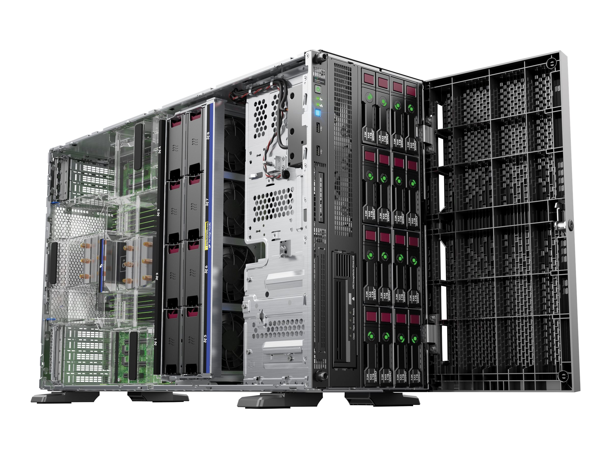 HPE ProLiant ML350 Gen9 Base - Server - Tower - 5U - zweiweg - 1 x Xeon E5-2620V3 / 2.4 GHz