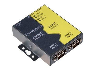 Brainboxes ES-257 - Geräteserver - 2 Anschlüsse - 100Mb LAN, RS-232