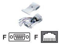 Roline - Serieller Adapter - DB-9 (W) bis RJ-45 (W)