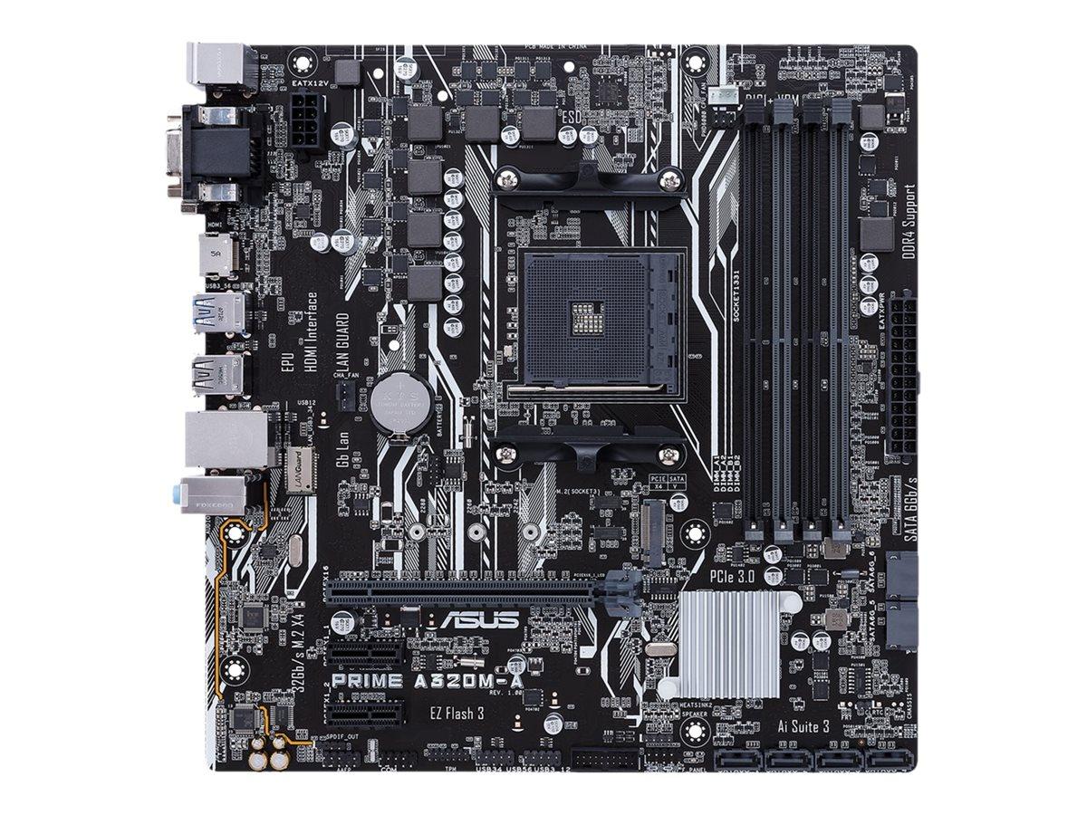 ASUS PRIME A320M-A - Motherboard - micro ATX - Socket AM4 - AMD A320 - USB 3.1 Gen 1