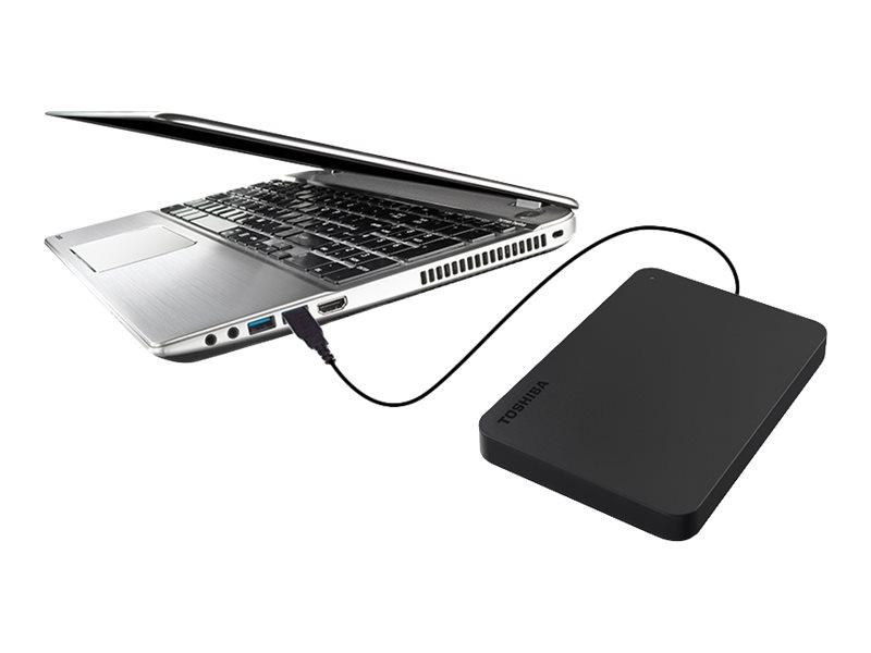 Toshiba Canvio Basics - Festplatte - 4 TB - extern (tragbar) - USB 3.0 - Schwarz