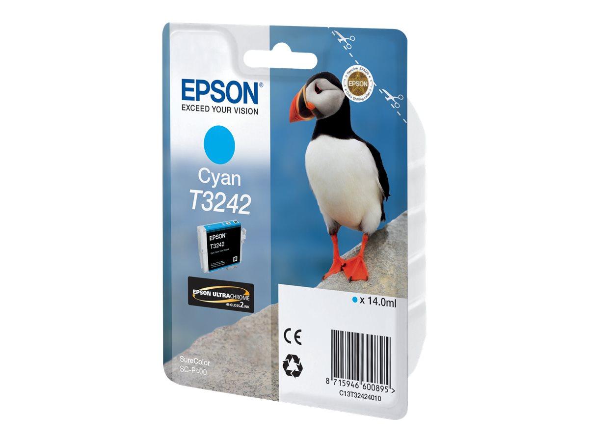 Epson T3242 - 14 ml - Cyan - Original - Tintenpatrone - für SureColor P400, SC-P400