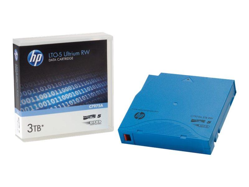 HPE Ultrium RW Custom Labeled No Case Data Cartridge - 20 x LTO Ultrium 5 - 1.5 TB / 3 TB - etikettiert - Hellblau - für HPE MSL