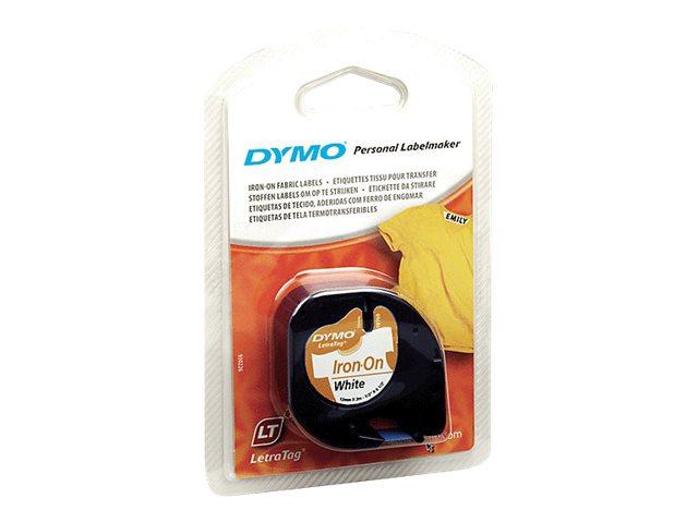 DYMO LetraTAG - Weiss - Rolle (1,2 cm x 2 m) 1 Rolle(n) Band zum Aufbügeln - für LetraTag LT-100H, LT-100T, QX50, XR