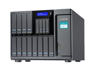 QNAP TS-1635 - NAS-Server - 16 Schächte - SATA 6Gb/s - RAID 0, 1, 5, 6, 10, JBOD, 10-Hot-Spare - RAM 4 GB