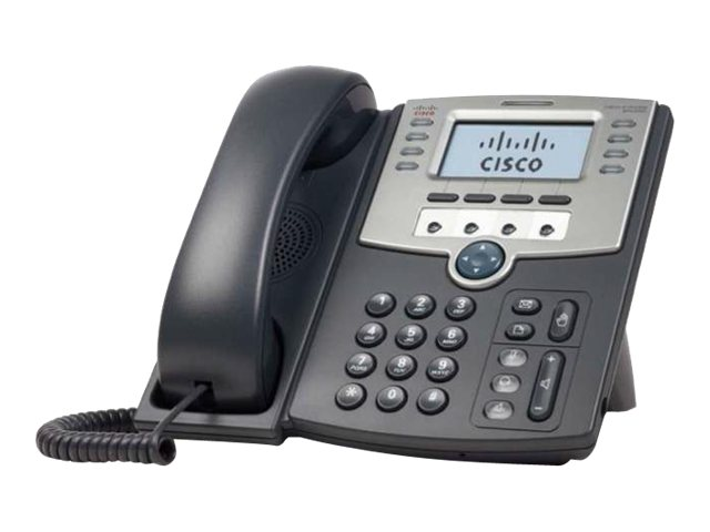 Cisco Small Business SPA 509G - VoIP-Telefon - SIP, SIP v2, SPCP - mehrere Leitungen - Silber, Dunkelgrau - für Small Business P