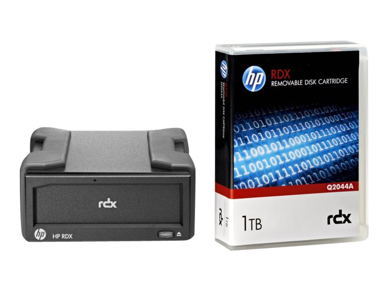 HPE RDX Removable Disk Backup System - Laufwerk - RDX - SuperSpeed USB 3.0 - extern - mit Kartusche mit 1 TB