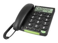 DORO PhoneEasy 312cs - Telefon mit Schnur mit Rufnummernanzeige - Schwarz