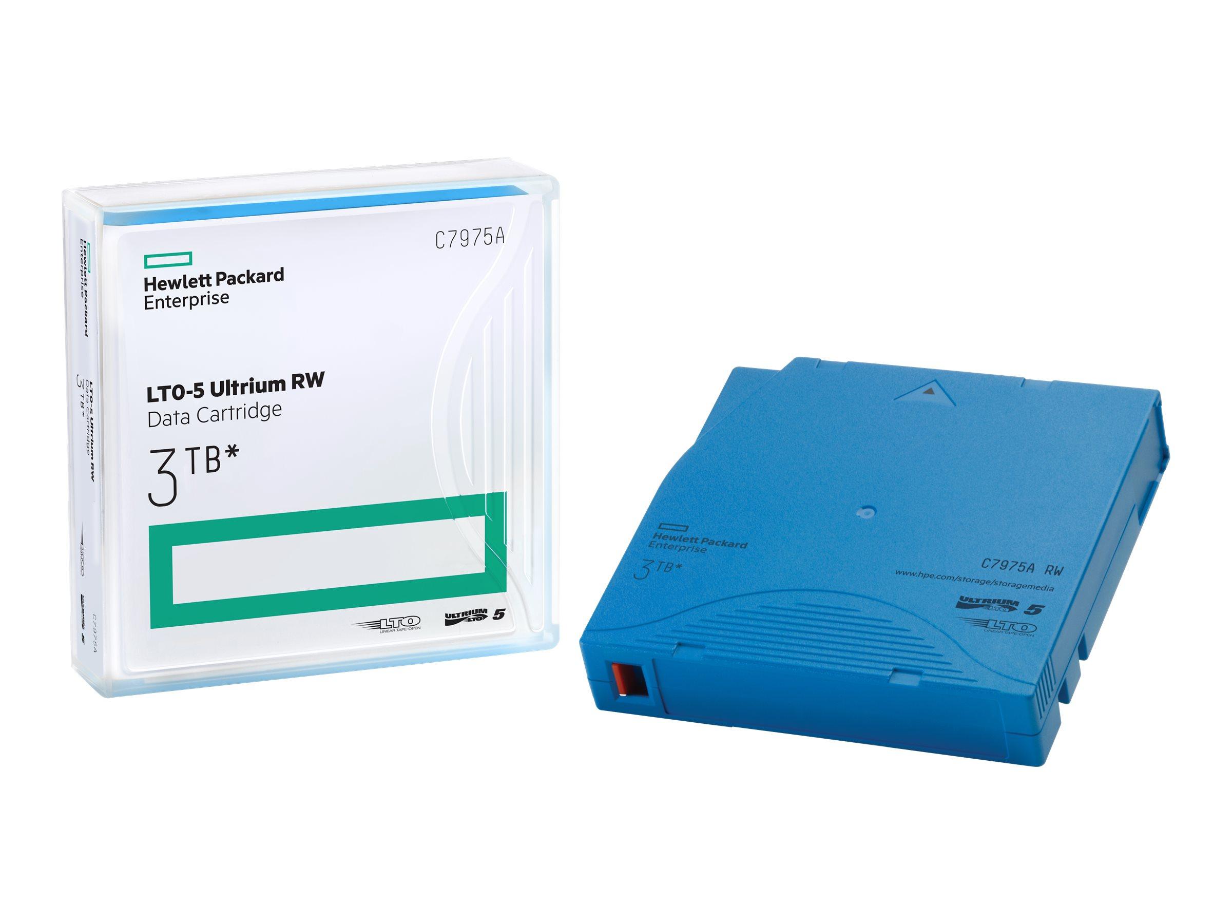HPE Ultrium RW Data Cartridge - LTO Ultrium 5 - 1.5 TB / 3 TB - Hellblau - für HPE MSL2024, MSL4048, MSL8096; LTO-5 Ultrium; Sto